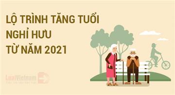 Infographic: Lộ trình tăng tuổi nghỉ hưu từ 2021 theo Bộ luật Lao động mới