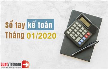 Sổ tay kế toán tháng 01/2020