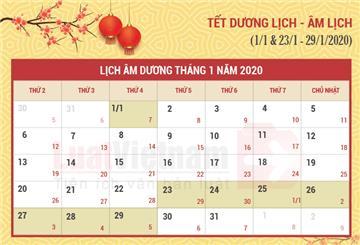 Lịch nghỉ toàn bộ các ngày lễ, tết trong năm 2020