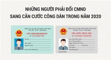 Infographic: Ai phải đổi CMND sang Căn cước công dân năm nay?