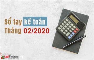Sổ tay kế toán tháng 02/2020