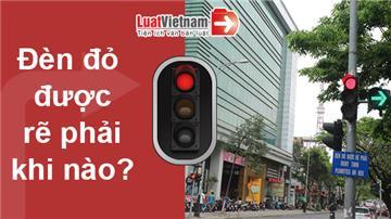 Infographic: Đèn đỏ được rẽ phải khi nào?