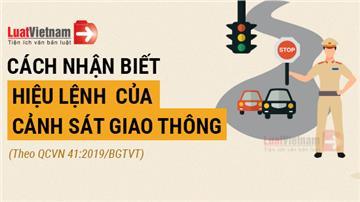 Infographic: Cách nhận biết hiệu lệnh của cảnh sát giao thông