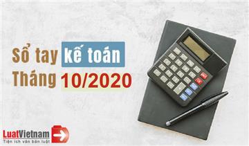 Sổ tay kế toán tháng 10/2020