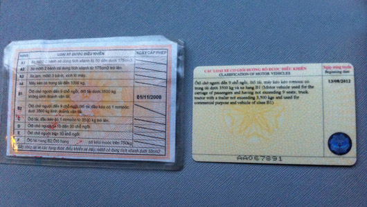 Thủ tục đổi bằng lái xe bìa giấy sang vật liệu PET