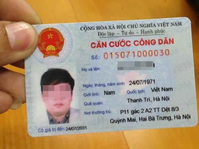 thẻ căn cước công dân bị thu hồi tạm giữ