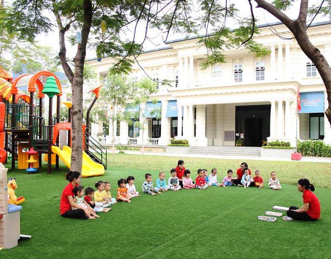 Trường mầm non ở thành phố có diện tích tối thiểu 8m2/trẻ