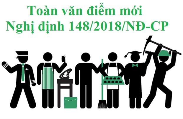Toàn văn điểm mới của Nghị định 148 hướng dẫn Bộ luật Lao động