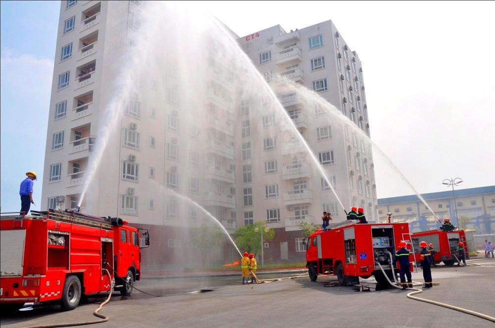 100% khu dân cư phải tự thực tập chữa cháy