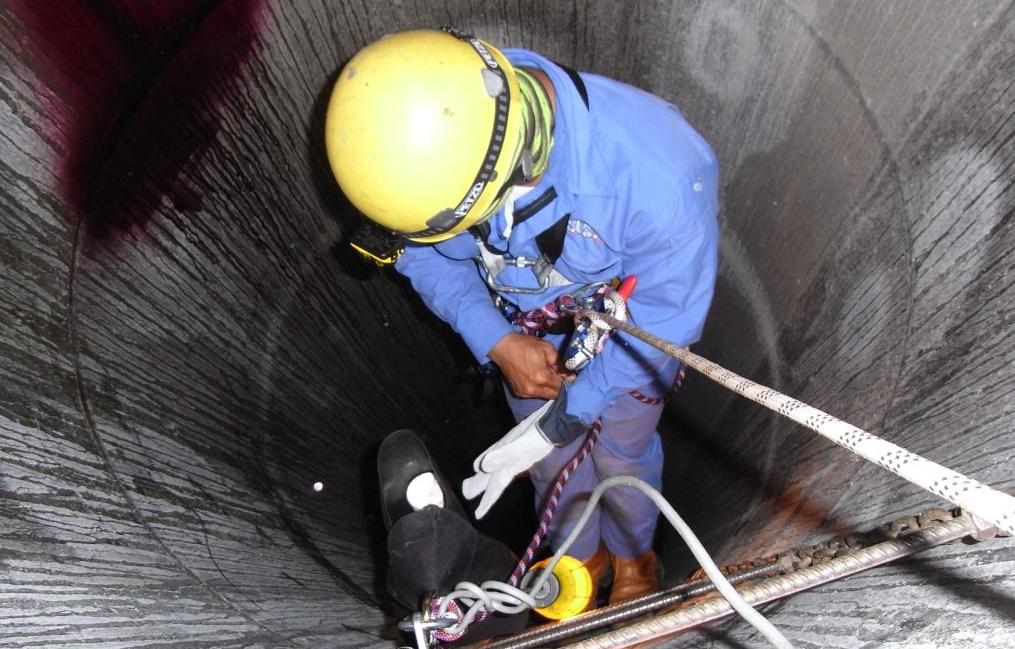 Kết quả hình ảnh cho biện pháp an toàn lao động trong không gian kín