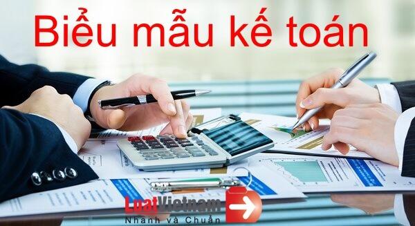 Mẫu chứng từ kế toán doanh nghiệp theo Thông tư 200
