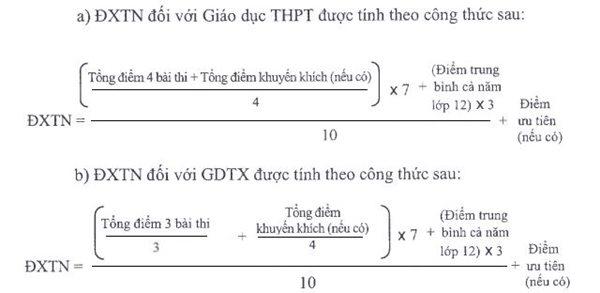 cách tính điểm kỳ thi THPT 2019