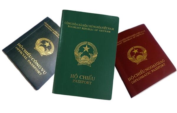 hộ chiếu có bao nhiêu loại