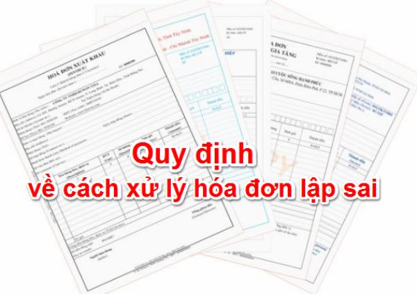 cách xử lý hóa đơn lập sai theo Thông tư 39