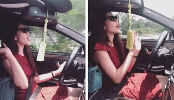 buông cả hai tay khi lái ô tô