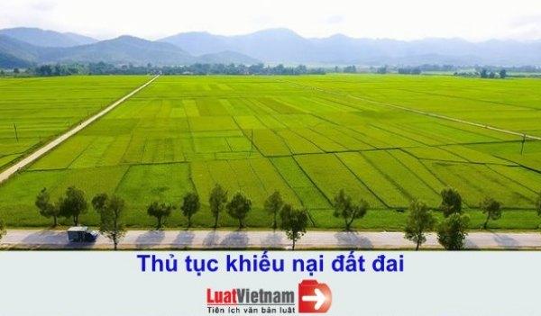 Thủ tục khiếu nại đất đai