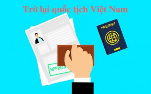đơn xin trở lại quốc tịch Việt Nam