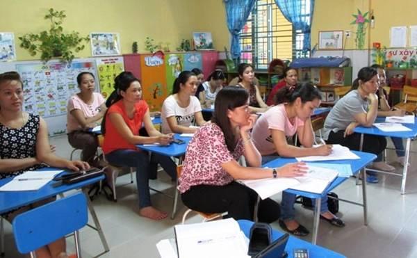 giáo viên mầm non phải bồi dưỡng thường xuyên