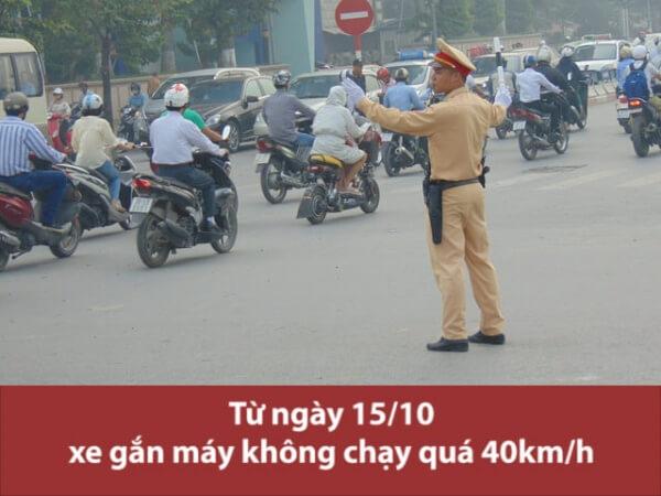 xe gắn máy không chạy quá 40km/h
