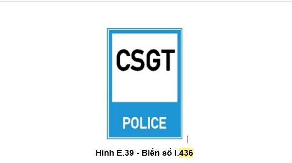 biển báo hiệu số 436 - Trạm Cảnh sát giao thông