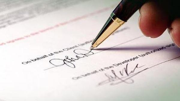 không được chứng thực chữ ký