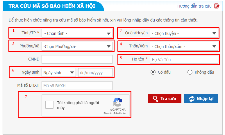 Tra cứu số Sổ BHXH không cần dùng CMND