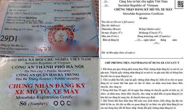 giấy đăng ký xe có nhiều thay đổi