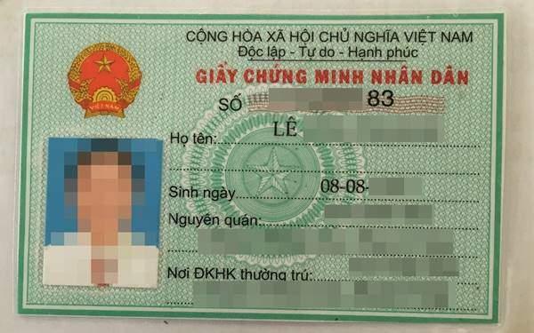 xác nhận CMND và căn cước công dân