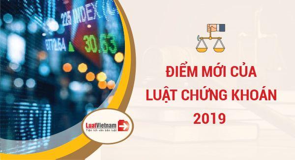 điểm mới của luật chứng khoán 2019