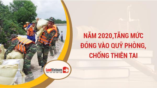 Mức đóng Quỹ phòng chống thiên tai 2020