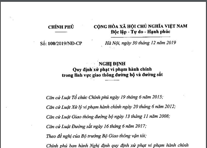 Toàn văn Nghị định 100 đã được LuatVietnam cập nhật