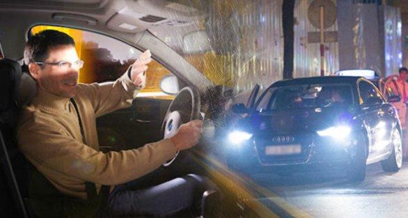 Bật đèn pha đi trong phố bị phạt bao nhiêu 2020?