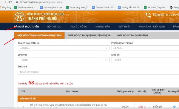 bước 2 thủ tục xin xác nhận tình trạng hôn nhân online tại Hà Nội