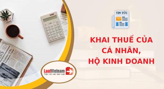 khai thuế cho hộ kinh doanh