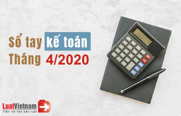 công việc kế toán cần làm trong tháng 4/2020