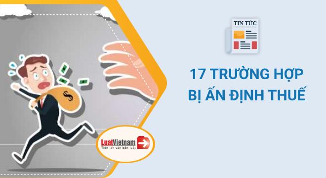 17 trường hợp doanh nghiệp bị ấn định thuế