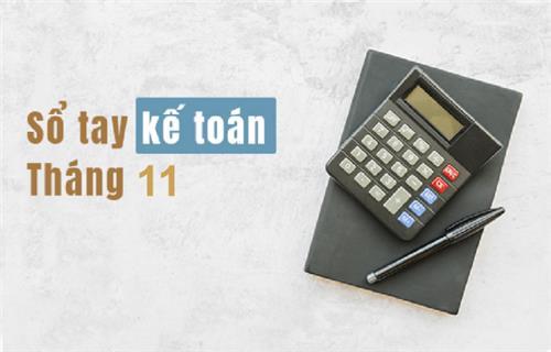 Sổ tay Kế toán tháng 11/2019