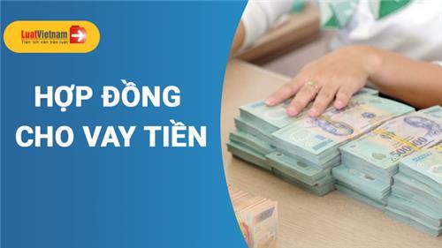 Mẫu Hợp đồng cho vay tiền thông dụng hiện nay