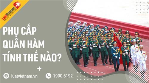 Phụ cấp quân hàm hạ sĩ quan, binh sĩ là bao nhiêu?